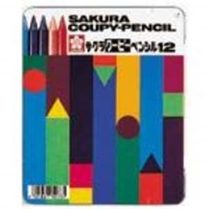 (業務用50セット) サクラクレパス クーピーペンシル FY12 12色 缶入【日時指定不可】