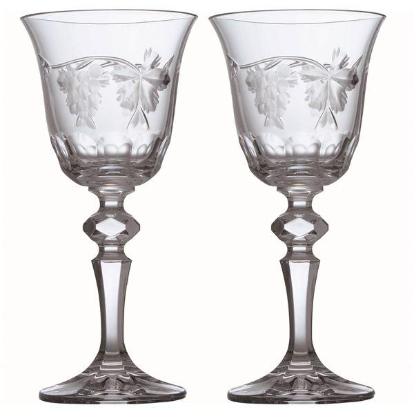 《ギフトラッピング対応》 【Bohemia Bacchus】ボヘミア バッカス ワイン ペア 130ml SVL-900/2【代引不可】【日時指定不可】