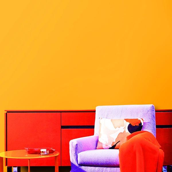 壁紙シール/プレミアムウォールデコシート 【6m巻】 C-WA208 カラー オレンジ【アウトレット】【代引不可】【日時指定不可】