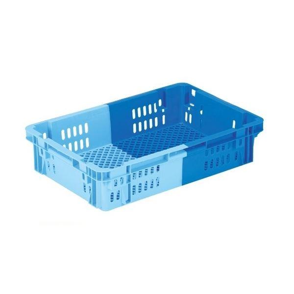 【5個セット】 業務用コンテナボックス/食品用コンテナー 【NF-M21】 ダークブルー/ブルー 材質:PP【代引不可】【日時指定不可】