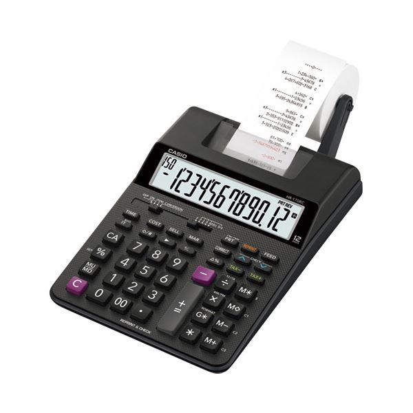 カシオ計算機 プリンター電卓HR-170RC-BK【日時指定不可】