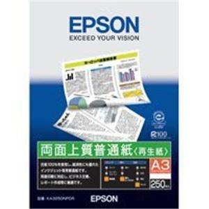 (業務用40セット) エプソン EPSON 両面普通紙 KA3250NPDR A3 250枚【日時指定不可】