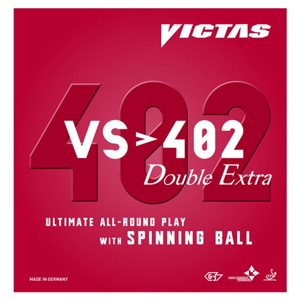 ヤマト卓球 VICTAS(ヴィクタス) 裏ソフトラバー VS>402 ダブルエキストラ 020401 ブラック 1.8【日時指定不可】