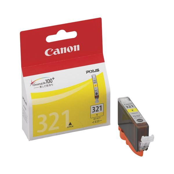 (まとめ) キヤノン Canon インクタンク BCI-321Y イエロー 2930B001 1個 【×10セット】【日時指定不可】