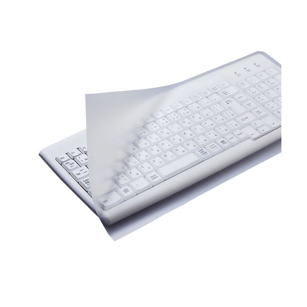 (まとめ) エレコム キーボードカバー ぴたッとシートSUPER デスクトップ用 PKU-FREE1 1枚 【×10セット】【日時指定不可】