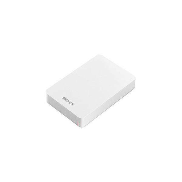 BUFFALO USB3.1(Gen1) ポータブルHDD 4TB ホワイト HD-PGF4.0U3-GWHA【日時指定不可】