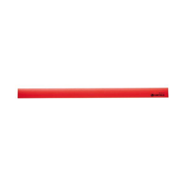(まとめ)スマートバリュー マグネットバー220mm 赤 B440J-R【×100セット】【日時指定不可】