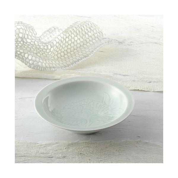 青白磁牡丹絵 飾鉢(木箱入) K91204718【日時指定不可】