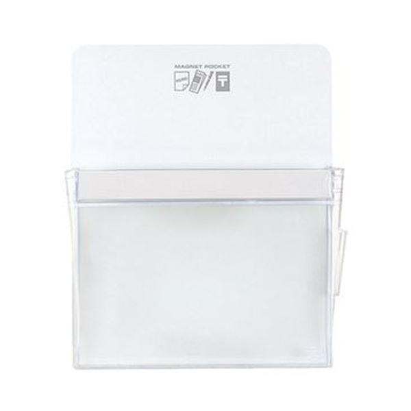 (まとめ)コクヨ マグネットポケット A4300×240mm 白 マク-500NW 1個【×10セット】【日時指定不可】
