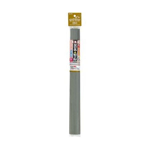 (まとめ)ELPA 足せるモール 床用0号40cm テープ付 グレー PSM-U040P3(GY)1パック(3本)【×10セット】【日時指定不可】