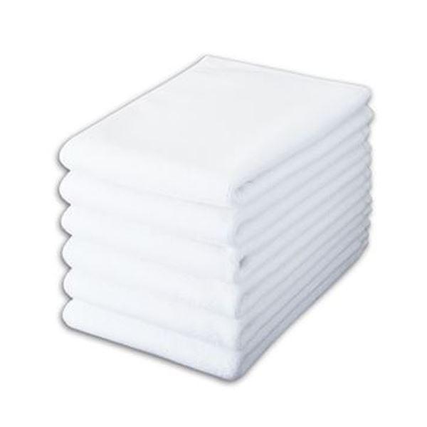 (まとめ)オーミケンシ バスマット 40×60cmホワイト 1パック(6枚)【×3セット】【日時指定不可】