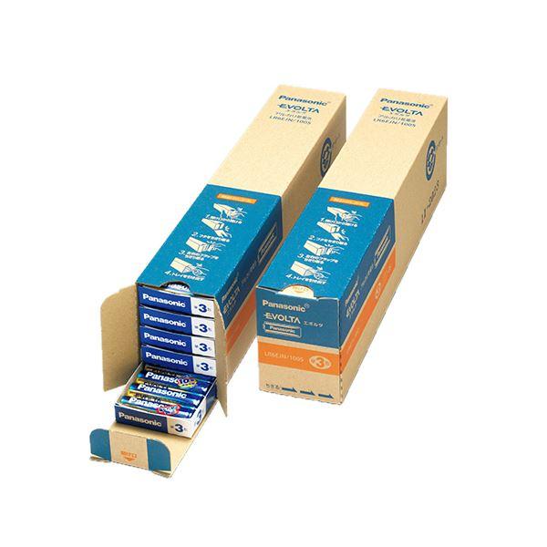 (まとめ)パナソニック アルカリ乾電池 EVOLTA 単3形 業務用パック LR6EJN/100S 1セット(100本:4本×25パック)【×3セット】【日時指定不可】