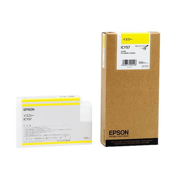 (まとめ) エプソン EPSON PX-P/K3インクカートリッジ イエロー 350ml ICY57 1個 【×10セット】【日時指定不可】