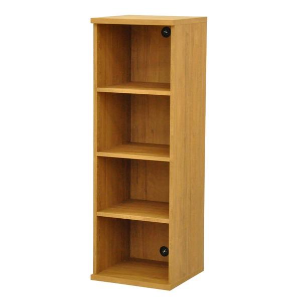 カラーボックス(収納棚/カスタマイズ家具) 4段 幅40×高さ120.3cm セレクト1240BR ブラウン【代引不可】【日時指定不可】