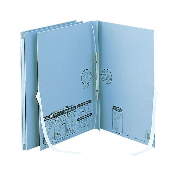 (まとめ) セキセイのびーるファイル(エスヤード)外ひも付き A4タテ 1000枚収容 背幅17~117mm ブルー AE-50FH1冊 【×30セット】【日時指定不可】