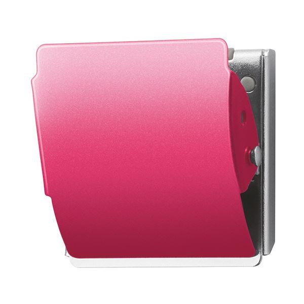 (まとめ) プラス マグネットクリップ ホールド Lピンク CP-047MCR 1個 【×30セット】【日時指定不可】
