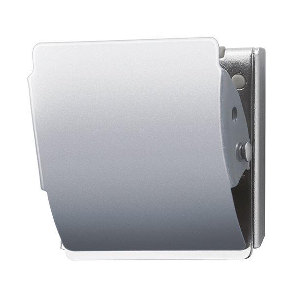 (まとめ) プラス マグネットクリップ ホールド Lシルバー CP-047MCR 1個 【×30セット】【日時指定不可】
