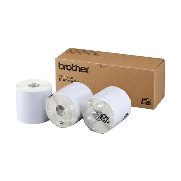 ブラザー RDロール 長尺紙テープ90mm幅×44m巻 RD-S08J2 1パック(3ロール)【日時指定不可】