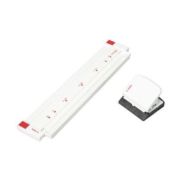 (まとめ)カール事務器 ゲージパンチ ホワイトGP-2630-W 1台【×5セット】【日時指定不可】
