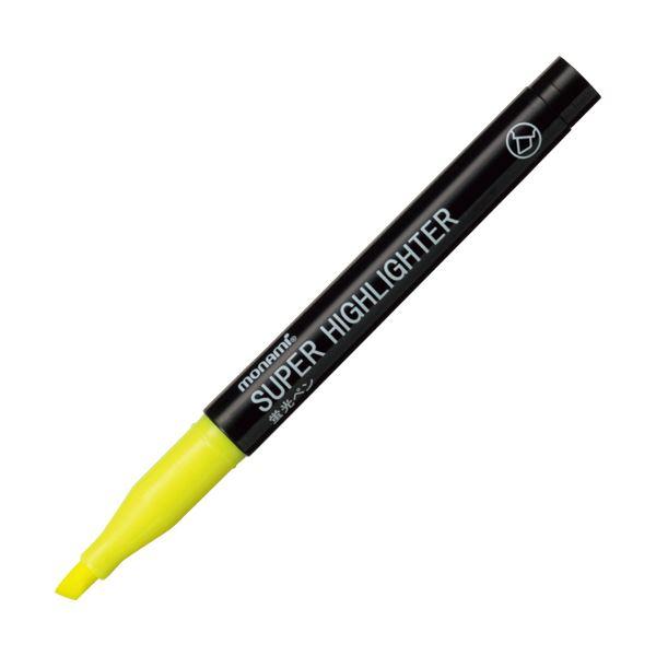 (まとめ) モナミ 蛍光ペン SUPERHIGHLIGHTER 黄 18401 1本 【×300セット】【日時指定不可】