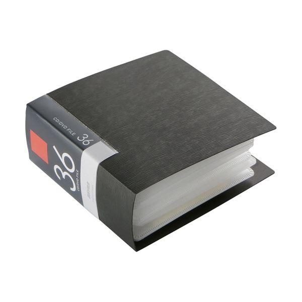 (まとめ) バッファローCD&DVDファイルケース ブックタイプ 36枚収納 ブラック BSCD01F36BK 1個 【×30セット】【日時指定不可】