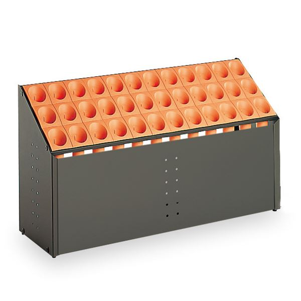 モダン 傘立て 【C36 オレンジ 36本立】 幅972mm スチール 樹脂製脚付 テラモト 『オブリークアーバン』 〔会社 店舗 玄関〕【日時指定不可】