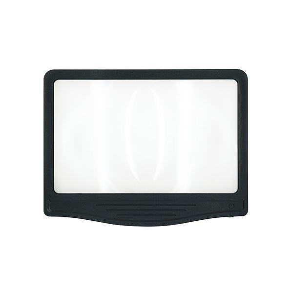(まとめ) 共栄プラスチック LED調光ルーペ ワイドタイプ【×5セット】【日時指定不可】