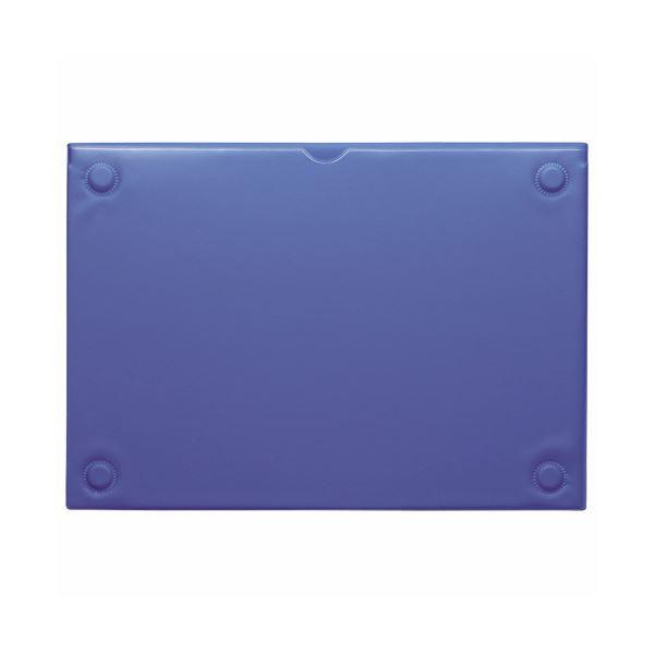 (まとめ) ライオン事務器 マグネットカードケースA4 ブルー MCC-A4 1枚 【×10セット】【日時指定不可】
