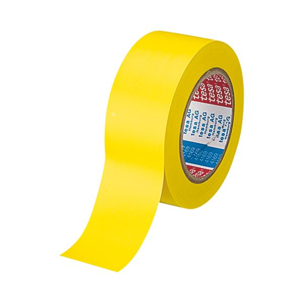 (まとめ) テサテープ ラインテープ 50mm×33m 黄 4169PV8キ 1巻 【×10セット】【日時指定不可】