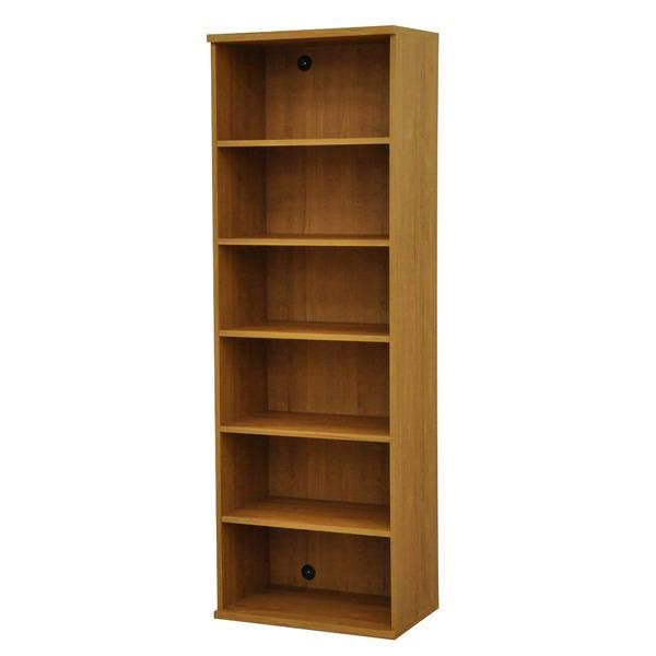 カラーボックス(収納棚/カスタマイズ家具) 6段 幅58.9×高さ177.9cm セレクト1860BR ブラウン【代引不可】【日時指定不可】