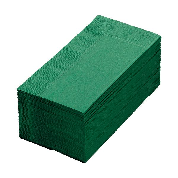 (まとめ) カラーナプキン 2PLY 8つ折 イタリアグリーン 2PLU-28C-G 1パック(50枚) 【×30セット】【日時指定不可】
