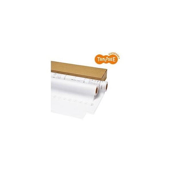 (まとめ)TANOSEE インクジェットプロッタ用トレペ A1ロール 594mm×50m 1箱(2本)【×3セット】【日時指定不可】