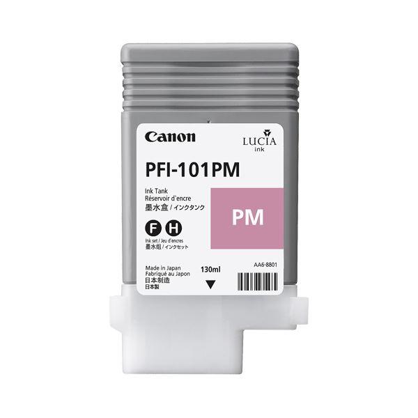 (まとめ) キヤノン Canon インクタンク PFI-101 顔料フォトマゼンタ 130ml 0888B001 1個 【×10セット】【日時指定】