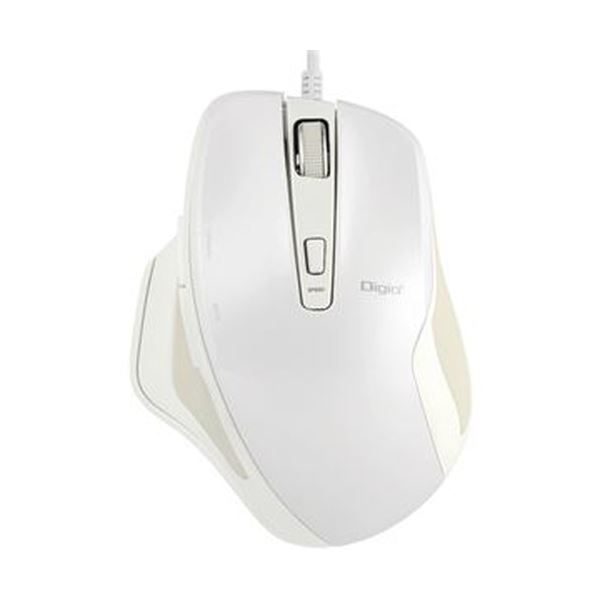 (まとめ)ナカバヤシ有線静音5ボタンBlueLEDマウス ホワイト MUS-UKF156W 1個【×5セット】【日時指定不可】