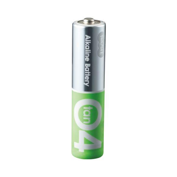 (まとめ) TANOSEE アルカリ乾電池プレミアム 単4形 1セット(100本:20本×5箱) 【×5セット】【日時指定不可】