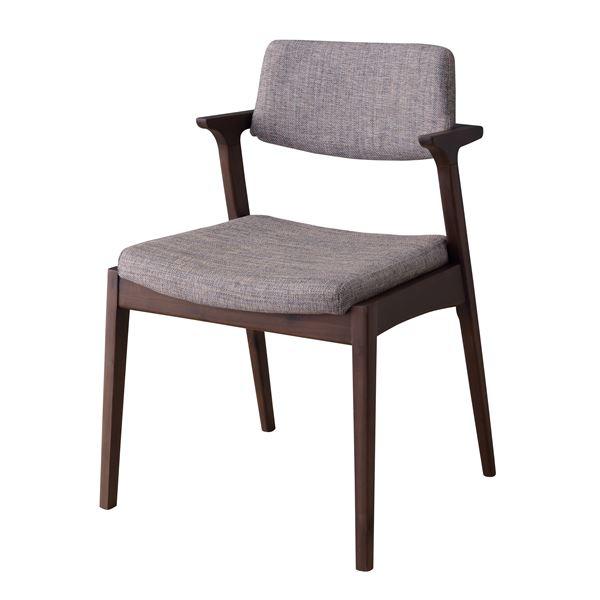 ダイニングチェア/食卓椅子 2脚セット 【グレー】 幅52cm×奥行54cm×高さ77cm×座面高45cm 木製素材 〔リビング〕【日時指定不可】