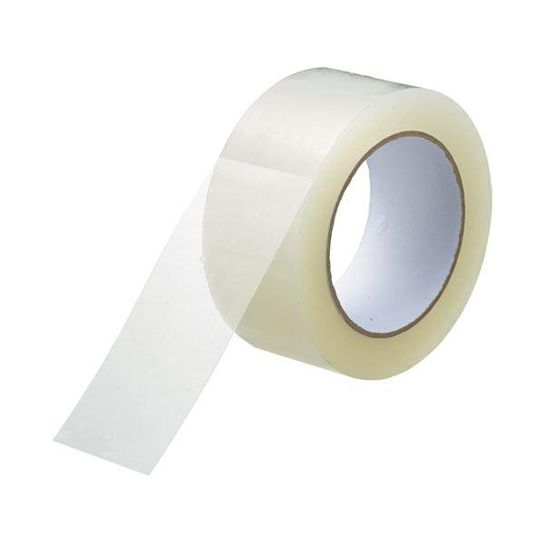 (まとめ) スマートバリュー 透明梱包用テープ48mm*100m*5巻 B385J【×10セット】【日時指定不可】