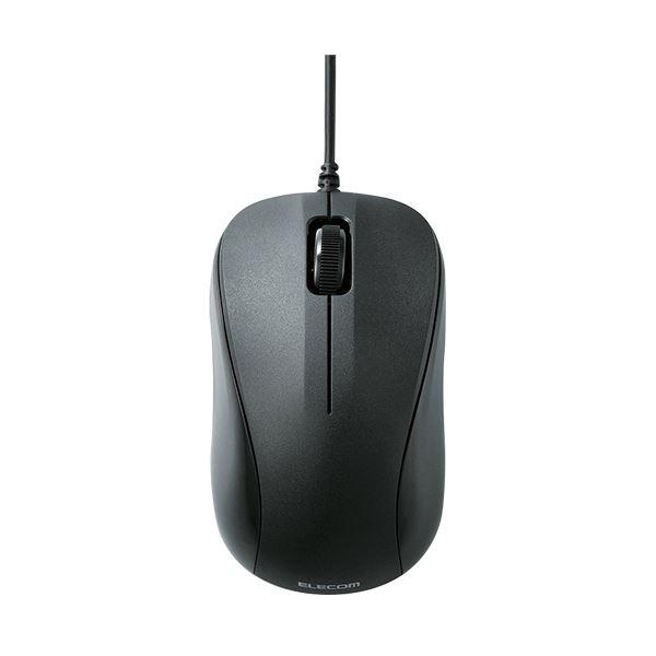 (まとめ) エレコム USB光学式マウス 3ボタンRoHS指令準拠 Sサイズ ブラック M-K5URBK/RS 1個 【×10セット】【日時指定不可】