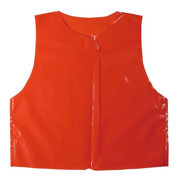 (まとめ)ビニール製衣装ベース Jサイズ(約45cm) ベスト 赤 (10枚入) 【×10個セット】【日時指定不可】