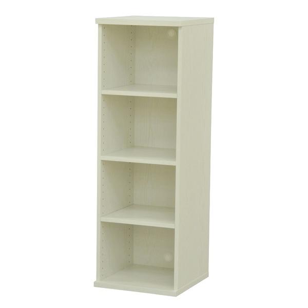 カラーボックス(収納棚/カスタマイズ家具) 4段 幅40×高さ120.3cm セレクト1240WH ホワイト【代引不可】【日時指定不可】