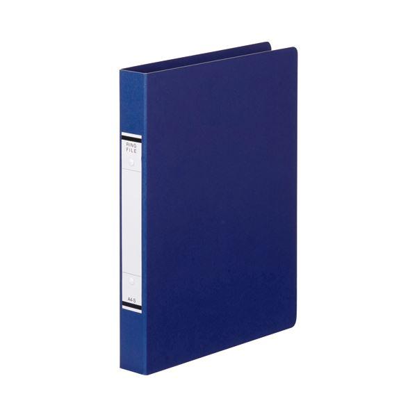 (まとめ) TANOSEE Oリングファイル(紙表紙) A4タテ 2穴 220枚収容 背幅36mm 青 1セット(10冊) 【×10セット】【日時指定不可】