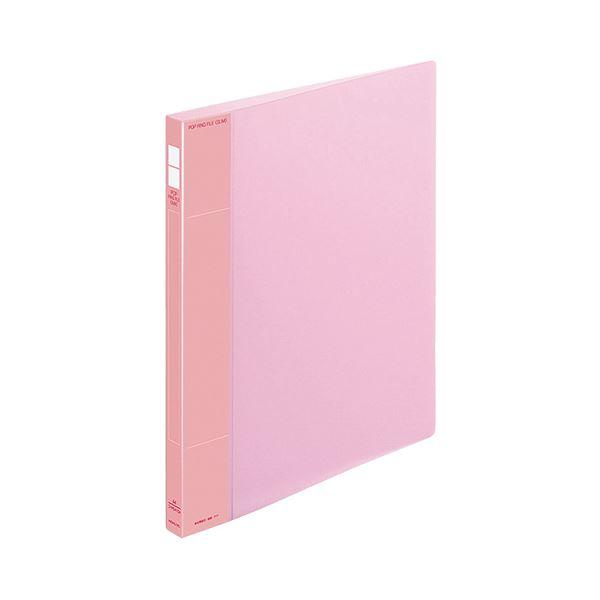 (まとめ) コクヨ ポップリングファイル(スリム) A4タテ 2穴 100枚収容 背幅21mm ピンク フ-PS410P 1冊 【×30セット】【日時指定不可】