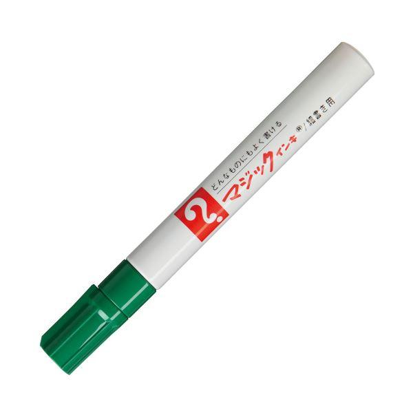 (まとめ) 寺西化学 油性マーカー マジックインキNo.500(細書き用) 緑 M500-T4 1本 【×100セット】【日時指定不可】