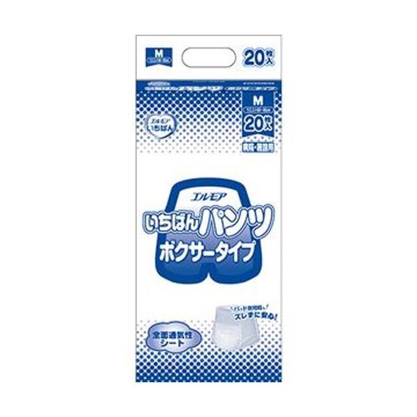 (まとめ)カミ商事 エルモア いちばん パンツボクサータイプ M 1パック(20枚)【×10セット】【日時指定不可】