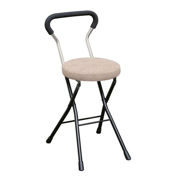 折りたたみ椅子 【4脚セット アイボリー×ブラック】 幅33cm 日本製 スチールパイプ 『ソニッククッションチェア』【代引不可】【日時指定不可】