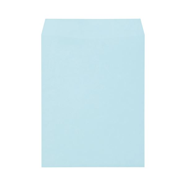 (まとめ) キングコーポレーション ソフトカラー封筒 角3 100g/m2 ブルー K3S100B 1パック(100枚) 【×10セット】【日時指定不可】