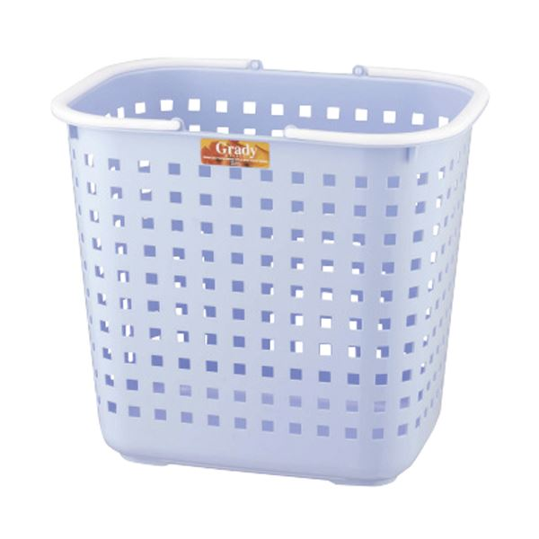 (まとめ)アスベル 1個【×10セット】【日時指定不可】 L グレディバスケット ブルー