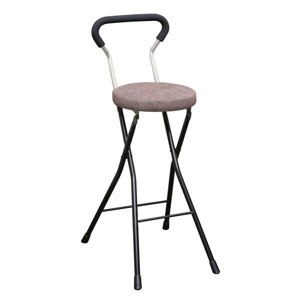 折りたたみ椅子 【4脚セット ブラウン×ブラック】 幅36cm 日本製 スチールパイプ 『ソニッククッションチェア ハイ』【代引不可】【日時指定不可】