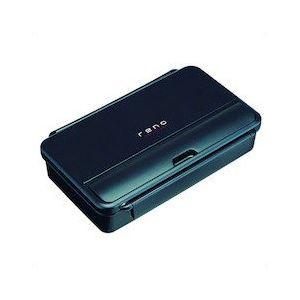 (まとめ) 弁当箱/ランチボックス 【1段 850ml】 箸付き ブラック 『レノ』 【40個セット】【日時指定不可】
