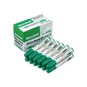(まとめ) モナミ ホワイトボードマーカーB 丸芯緑 10504 1セット(12本) 【×30セット】【日時指定不可】